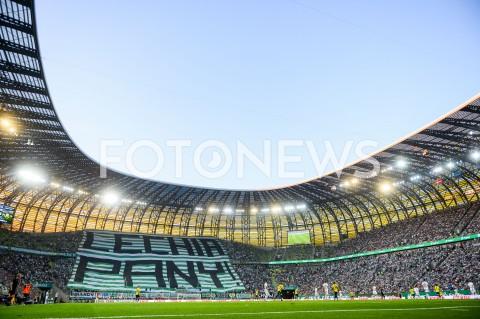 AGENCJA FOTONEWS - 25.07.2019 GDANSKPILKA NOZNA - ELIMINACJE LIGI EUROPY UEFA(Football - UEFA Europa League Qualifiers)MECZ LECHIA GDANSK - BRONDBY IFN/Z OPRAWA KIBICE LECHIA GDANSK TRANSPARENT LECHIA PANYFOT MATEUSZ SLODKOWSKI / FOTONEWS
