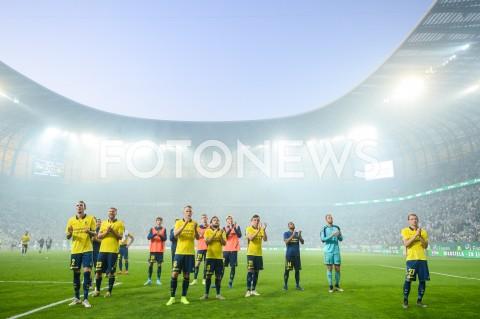 AGENCJA FOTONEWS - 25.07.2019 GDANSKPILKA NOZNA - ELIMINACJE LIGI EUROPY UEFA(Football - UEFA Europa League Qualifiers)MECZ LECHIA GDANSK - BRONDBY IFN/Z DRUZYNA BRONDBY IF DZIEKUJE KIBICOM ZA DOPING PO PRZEGRANYM MECZU JENS MARTIN GAMMELBY HJORTUR HERMANNSSON KASPER FISKER LASSE VIGEN CHRISTENSENFOT MATEUSZ SLODKOWSKI / FOTONEWS