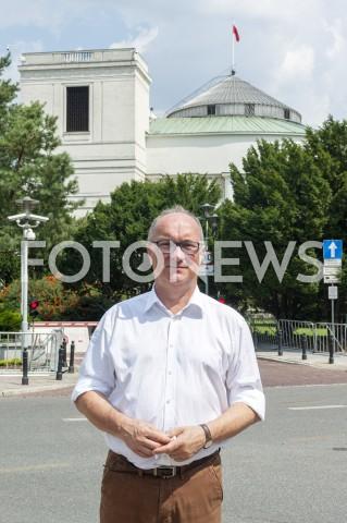 AGENCJA FOTONEWS - 29.07.2019 WARSZAWA KONFERENCJA LEWICY SLD WIOSNA RAZEM W WARSZAWIE WSPOLNE LISTY OPOZYCJI DO SENATU N/Z WLODZIMIERZ CZARZASTY SEJM FOT GRZEGORZ KRZYZEWSKI / FOTONEWS