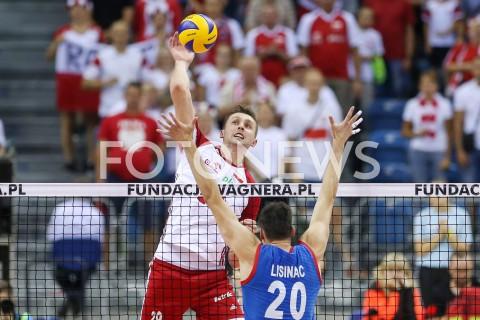 AGENCJA FOTONEWS - 01.08.2019 KRAKOW (TAURON ARENA) XVII MEMORIAL HUBERTA JERZEGO WAGNERA MECZ POLSKA - SERBIA ( MATCH POLAND - SERBIA ) N/Z MATEUSZ BIENIEK FOT MACIEJ GOCLON / FOTONEWS