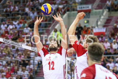AGENCJA FOTONEWS - 01.08.2019 KRAKOW (TAURON ARENA) XVII MEMORIAL HUBERTA JERZEGO WAGNERA MECZ POLSKA - SERBIA ( MATCH POLAND - SERBIA ) N/Z GRZEGORZ LOMACZ PIOTR NOWAKOWSKI FOT MACIEJ GOCLON / FOTONEWS