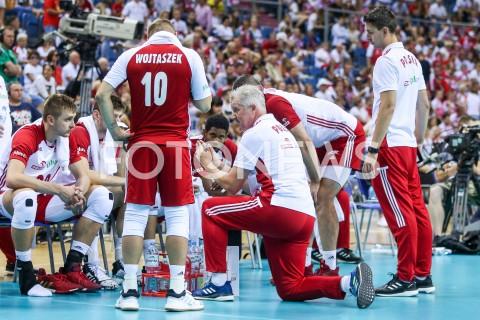 AGENCJA FOTONEWS - 01.08.2019 KRAKOW (TAURON ARENA) XVII MEMORIAL HUBERTA JERZEGO WAGNERA MECZ POLSKA - SERBIA ( MATCH POLAND - SERBIA ) N/Z VITAL HEYNEN - I TRENER ( HEAD COACH ) MATEUSZ BIENIEK MICHAL MIESZKO GOGOL WILFREDO LEONFOT MACIEJ GOCLON / FOTONEWS