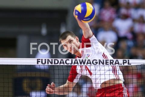 AGENCJA FOTONEWS - 03.08.2019 KRAKOW (TAURON ARENA) XVII MEMORIAL HUBERTA JERZEGO WAGNERA MECZ POLSKA - FINLANDIA ( MATCH POLAND - FINDLAND ) N/Z MACIEJ MUZAJ SYLWETKA ATAK FOT MACIEJ GOCLON / FOTONEWS