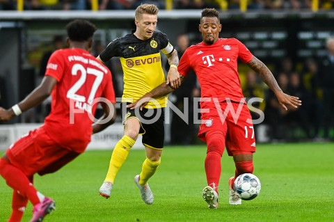 AGENCJA FOTONEWS - 03.08.2019 DORTMUNDPILKA NOZNA - SUPERPUCHAR NIEMIEC 2019(Football - Germany Supercup 2019)MECZ BORUSSIA DORTMUND - BAYERN MONACHIUM(Borussia Dortmund - Bayern Munich)N/Z MARCO REUS JEROME BOATENGFOT MATEUSZ SLODKOWSKI / FOTONEWS