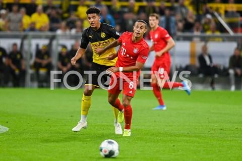 AGENCJA FOTONEWS - 03.08.2019 DORTMUNDPILKA NOZNA - SUPERPUCHAR NIEMIEC 2019(Football - Germany Supercup 2019)MECZ BORUSSIA DORTMUND - BAYERN MONACHIUM(Borussia Dortmund - Bayern Munich)N/Z JADON SANCHO THIAGOFOT MATEUSZ SLODKOWSKI / FOTONEWS