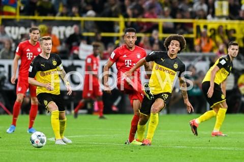 AGENCJA FOTONEWS - 03.08.2019 DORTMUNDPILKA NOZNA - SUPERPUCHAR NIEMIEC 2019(Football - Germany Supercup 2019)MECZ BORUSSIA DORTMUND - BAYERN MONACHIUM(Borussia Dortmund - Bayern Munich)N/Z MARCO REUS CORENTIN TOLISSO AXEL WITSELFOT MATEUSZ SLODKOWSKI / FOTONEWS