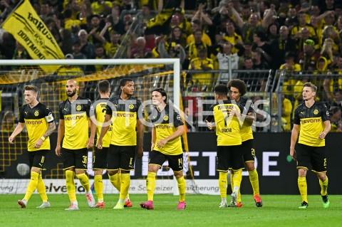 AGENCJA FOTONEWS - 03.08.2019 DORTMUNDPILKA NOZNA - SUPERPUCHAR NIEMIEC 2019(Football - Germany Supercup 2019)MECZ BORUSSIA DORTMUND - BAYERN MONACHIUM(Borussia Dortmund - Bayern Munich)N/Z PACO ALCACER RADOSC BRAMKA GOL NA 1:0 BORUSSIA DORTMUND LUKASZ PISZCZEKFOT MATEUSZ SLODKOWSKI / FOTONEWS