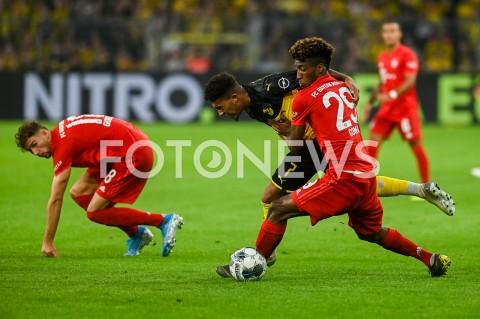 AGENCJA FOTONEWS - 03.08.2019 DORTMUNDPILKA NOZNA - SUPERPUCHAR NIEMIEC 2019(Football - Germany Supercup 2019)MECZ BORUSSIA DORTMUND - BAYERN MONACHIUM(Borussia Dortmund - Bayern Munich)N/Z KINGSLEY COMAN JADON SANCHOFOT MATEUSZ SLODKOWSKI / FOTONEWS