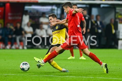 AGENCJA FOTONEWS - 03.08.2019 DORTMUNDPILKA NOZNA - SUPERPUCHAR NIEMIEC 2019(Football - Germany Supercup 2019)MECZ BORUSSIA DORTMUND - BAYERN MONACHIUM(Borussia Dortmund - Bayern Munich)N/Z RAPHAEL GUERREIRO ROBERT LEWANDOWSKIFOT MATEUSZ SLODKOWSKI / FOTONEWS