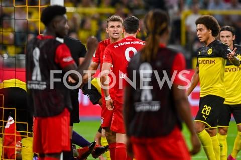 AGENCJA FOTONEWS - 03.08.2019 DORTMUNDPILKA NOZNA - SUPERPUCHAR NIEMIEC 2019(Football - Germany Supercup 2019)MECZ BORUSSIA DORTMUND - BAYERN MONACHIUM(Borussia Dortmund - Bayern Munich)N/Z THOMAS MULLER ROBERT LEWANDOWSKI EMOCJEFOT MATEUSZ SLODKOWSKI / FOTONEWS