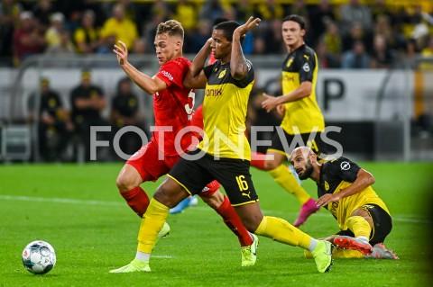 AGENCJA FOTONEWS - 03.08.2019 DORTMUNDPILKA NOZNA - SUPERPUCHAR NIEMIEC 2019(Football - Germany Supercup 2019)MECZ BORUSSIA DORTMUND - BAYERN MONACHIUM(Borussia Dortmund - Bayern Munich)N/Z JOSHUA KIMMICH MANUEL AKANJIFOT MATEUSZ SLODKOWSKI / FOTONEWS