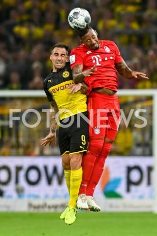 AGENCJA FOTONEWS - 03.08.2019 DORTMUNDPILKA NOZNA - SUPERPUCHAR NIEMIEC 2019(Football - Germany Supercup 2019)MECZ BORUSSIA DORTMUND - BAYERN MONACHIUM(Borussia Dortmund - Bayern Munich)N/Z PACO ALCACER JEROME BOATENGFOT MATEUSZ SLODKOWSKI / FOTONEWS