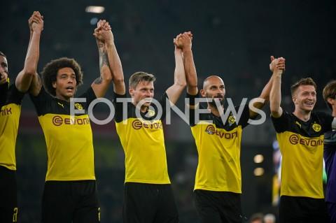 AGENCJA FOTONEWS - 03.08.2019 DORTMUNDPILKA NOZNA - SUPERPUCHAR NIEMIEC 2019(Football - Germany Supercup 2019)MECZ BORUSSIA DORTMUND - BAYERN MONACHIUM(Borussia Dortmund - Bayern Munich)N/Z BORUSSIA DORTMUND ZWYCIEZCA SUPERPUCHAR LUKASZ PISZCZEK DEKORACJAFOT MATEUSZ SLODKOWSKI / FOTONEWS