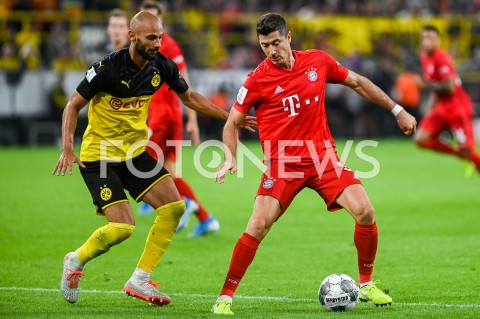 AGENCJA FOTONEWS - 03.08.2019 DORTMUNDPILKA NOZNA - SUPERPUCHAR NIEMIEC 2019(Football - Germany Supercup 2019)MECZ BORUSSIA DORTMUND - BAYERN MONACHIUM(Borussia Dortmund - Bayern Munich)N/Z OMER TOPRAK ROBERT LEWANDOWSKIFOT MATEUSZ SLODKOWSKI / FOTONEWS