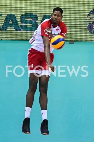 AGENCJA FOTONEWS - 09.08.2019 GDANSKSIATKOWKA - TURNIEJ KWALIFIKACYJNY FIVB DO IGRZYSK OLIMPIJSKICH TOKIO 2020MECZ POLSKA - TUNEZJAVolleyball - Olympic Games FIVB Qualifiers Tournament Pool DPoland - TunisiaN/Z WILFREDO LEON SYLWETKAFOT MATEUSZ SLODKOWSKI / FOTONEWS