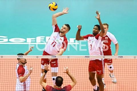 AGENCJA FOTONEWS - 09.08.2019 GDANSKSIATKOWKA - TURNIEJ KWALIFIKACYJNY FIVB DO IGRZYSK OLIMPIJSKICH TOKIO 2020MECZ POLSKA - TUNEZJAVolleyball - Olympic Games FIVB Qualifiers Tournament Pool DPoland - TunisiaN/Z KAROL KLOS WILFREDO LEONFOT MATEUSZ SLODKOWSKI / FOTONEWS