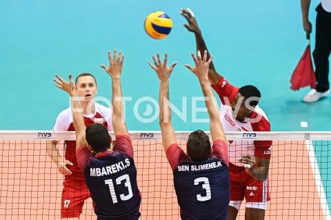 AGENCJA FOTONEWS - 09.08.2019 GDANSKSIATKOWKA - TURNIEJ KWALIFIKACYJNY FIVB DO IGRZYSK OLIMPIJSKICH TOKIO 2020MECZ POLSKA - TUNEZJAVolleyball - Olympic Games FIVB Qualifiers Tournament Pool DPoland - TunisiaN/Z WILFREDO LEONFOT MATEUSZ SLODKOWSKI / FOTONEWS