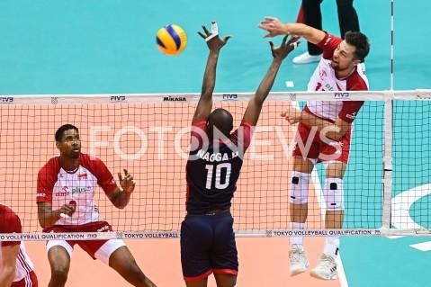 AGENCJA FOTONEWS - 09.08.2019 GDANSKSIATKOWKA - TURNIEJ KWALIFIKACYJNY FIVB DO IGRZYSK OLIMPIJSKICH TOKIO 2020MECZ POLSKA - TUNEZJAVolleyball - Olympic Games FIVB Qualifiers Tournament Pool DPoland - TunisiaN/Z MICHAL KUBIAK WILFREDO LEONFOT MATEUSZ SLODKOWSKI / FOTONEWS