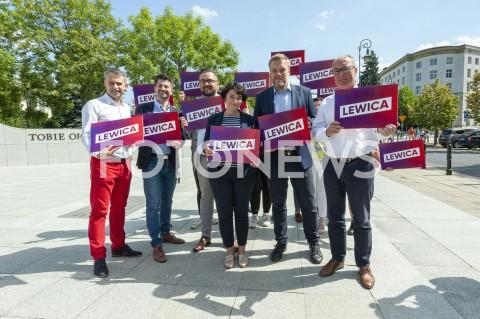 Prezentacja szyldu wyborczego Lewicy w Warszawie