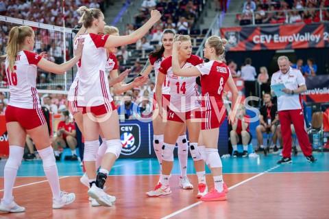 AGENCJA FOTONEWS - 29.08.2019 LODZ ( POLAND )SIATKOWKA KOBIET MISTRZOSTWA EUROPY KOBIET CEV EUROVOLLEY 2019 WOMEN EUROPEAN CHAMPIONSHIP MECZ POLSKA - WLOCHY ( Poland - Italy ) N/Z NATALIA MEDRZYK MAGDALENA STYSIAK MALWINA SMARZEK GODEK JOANNA WOLOSZ MARIA STENZEL JACEK NAWROCKI RADOSC EMOCJEFOT ARTUR MARCINKOWSKI / FOTONEWS