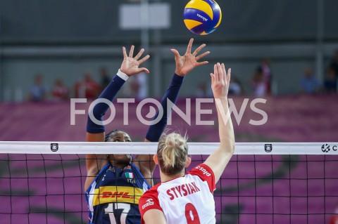 AGENCJA FOTONEWS - 29.08.2019 LODZ ( POLAND )SIATKOWKA KOBIET MISTRZOSTWA EUROPY KOBIET CEV EUROVOLLEY 2019 WOMEN EUROPEAN CHAMPIONSHIP MECZ POLSKA - WLOCHY ( Poland - Italy ) N/Z MIRIAM FATIME SYLLA MAGDALENA STYSIAKFOT ARTUR MARCINKOWSKI / FOTONEWS