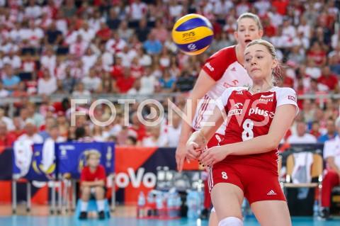 AGENCJA FOTONEWS - 29.08.2019 LODZ ( POLAND )SIATKOWKA KOBIET MISTRZOSTWA EUROPY KOBIET CEV EUROVOLLEY 2019 WOMEN EUROPEAN CHAMPIONSHIP MECZ POLSKA - WLOCHY ( Poland - Italy ) N/Z MARIA STENZEL MAGDALENA STYSIAK FOT ARTUR MARCINKOWSKI / FOTONEWS
