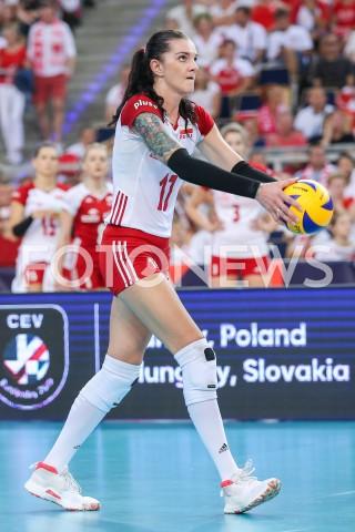 AGENCJA FOTONEWS - 29.08.2019 LODZ ( POLAND )SIATKOWKA KOBIET MISTRZOSTWA EUROPY KOBIET CEV EUROVOLLEY 2019 WOMEN EUROPEAN CHAMPIONSHIP MECZ POLSKA - WLOCHY ( Poland - Italy ) N/Z MALWINA SMARZEK GODEK SYLWETKA  FOT ARTUR MARCINKOWSKI / FOTONEWS