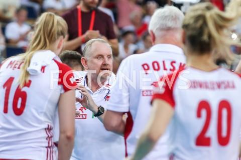 AGENCJA FOTONEWS - 29.08.2019 LODZ ( POLAND )SIATKOWKA KOBIET MISTRZOSTWA EUROPY KOBIET CEV EUROVOLLEY 2019 WOMEN EUROPEAN CHAMPIONSHIP MECZ POLSKA - WLOCHY ( Poland - Italy ) N/Z JACEK NAWROCKI - I TRENER ( HEAD COACH ) FOT ARTUR MARCINKOWSKI / FOTONEWS