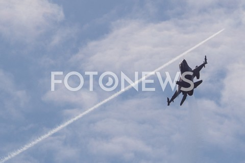 AGENCJA FOTONEWS - 31.08.2019 LOTNISKO RZESZOW JASIONKA CENTRALNE POKAZY LOTNICZE Z OKAZJI 100-LECIA AEROKLUBU POLSKIEGO N/Z SAMOLOT WOJSKOWY F-16 FIGHTING FALCON SILY POWIETRZNE RPFOT MACIEJ GOCLON / FOTONEWS