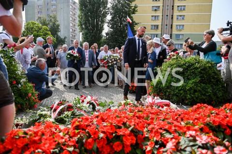AGENCJA FOTONEWS - 31.08.2019 GDANSKOBCHODY 39. ROCZNICY POROZUMIEN SIERPNIOWYCH W GDANSKUN/Z GRZEGORZ SCHETYNA LECH WALESA SKLADAJA KWIATY POD POMNIKIEM POLEGLYCH STOCZNIOWCOWFOT MATEUSZ SLODKOWSKI / FOTONEWS