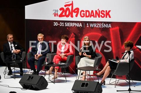 AGENCJA FOTONEWS - 31.08.2019 GDANSKOBCHODY 39. ROCZNICY POROZUMIEN SIERPNIOWYCH W GDANSKUDEBATA PRZYSZLOSC SAMORZADOWN/Z KRZYSZTOF IWANIUK TADEUSZ TRUSKOLASKI ELZBIETA POLAK ELZBIETA BIENKOWSKAFOT MATEUSZ SLODKOWSKI / FOTONEWS