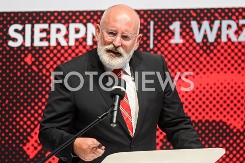 AGENCJA FOTONEWS - 31.08.2019 GDANSKOBCHODY 39. ROCZNICY POROZUMIEN SIERPNIOWYCH W GDANSKUCEREMONIA WRECZENIA MEDALI WDZIECZNOSCI W EUROPEJSKIM CENTRUM SOLIDARNOSCIN/Z FRANS TIMMERMANSFOT MATEUSZ SLODKOWSKI / FOTONEWS