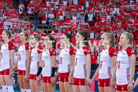 AGENCJA FOTONEWS - 01.09.2019 LODZ ( POLAND )SIATKOWKA KOBIET MISTRZOSTWA EUROPY KOBIET CEV EUROVOLLEY 2019 WOMEN EUROPEAN CHAMPIONSHIP1/8 FINALU MECZ POLSKA - HISZPANIA ( Poland - Spain ) N/Z SIATKARKI ZAWODNICZKI REPREZENTACJI POLSKI MAGDALENA STYSIAK ZUZANNA EFIMIENKO MLOTKOWSKA KATARZYNA ZAROSLINSKA KROL NATALIA MEDRZYK JOANNA WOLOSZFOT ARTUR MARCINKOWSKI / FOTONEWS