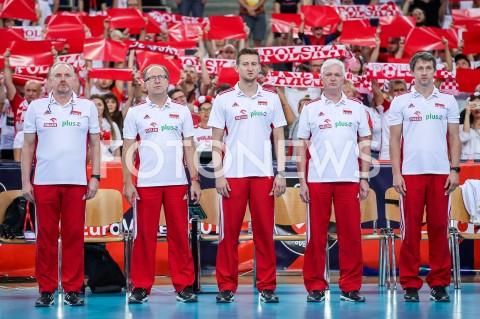 AGENCJA FOTONEWS - 01.09.2019 LODZ ( POLAND )SIATKOWKA KOBIET MISTRZOSTWA EUROPY KOBIET CEV EUROVOLLEY 2019 WOMEN EUROPEAN CHAMPIONSHIP1/8 FINALU MECZ POLSKA - HISZPANIA ( Poland - Spain ) N/Z JACEK NAWROCKI TRENER WALDEMAR KAWKA BLAZEJ KRZYSZTALOWICZ KRZYSZTOF ZAJACFOT ARTUR MARCINKOWSKI / FOTONEWS