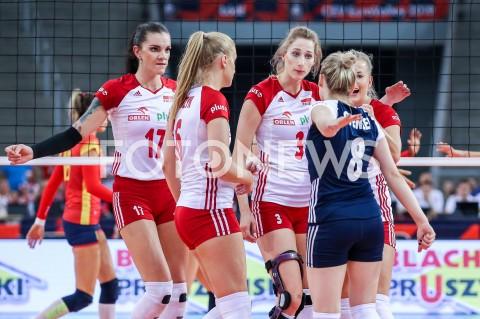 AGENCJA FOTONEWS - 01.09.2019 LODZ ( POLAND )SIATKOWKA KOBIET MISTRZOSTWA EUROPY KOBIET CEV EUROVOLLEY 2019 WOMEN EUROPEAN CHAMPIONSHIP1/8 FINALU MECZ POLSKA - HISZPANIA ( Poland - Spain ) N/Z MALWINA SMARZEK GODEK NATALIA MEDRZYK KLAUDIA ALAGIERSKA JOANNA WOLOSZ MARIA STENZEL RADOSC EMOCJE FOT ARTUR MARCINKOWSKI / FOTONEWS