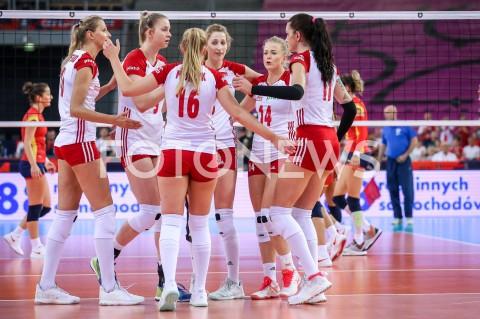 AGENCJA FOTONEWS - 01.09.2019 LODZ ( POLAND )SIATKOWKA KOBIET MISTRZOSTWA EUROPY KOBIET CEV EUROVOLLEY 2019 WOMEN EUROPEAN CHAMPIONSHIP1/8 FINALU MECZ POLSKA - HISZPANIA ( Poland - Spain ) N/Z ZUZANNA EFIMIENKO MLOTKOWSKA MAGDALENA STYSIAK KLAUDIA ALAGIERSKA JOANNA WOLOSZ MALWINA SMARZEK GODEK RADOSC EMOCJEFOT ARTUR MARCINKOWSKI / FOTONEWS
