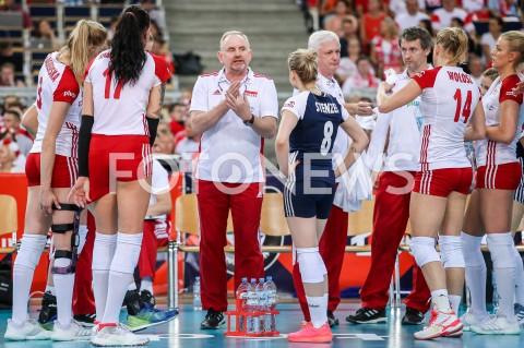 AGENCJA FOTONEWS - 01.09.2019 LODZ ( POLAND )SIATKOWKA KOBIET MISTRZOSTWA EUROPY KOBIET CEV EUROVOLLEY 2019 WOMEN EUROPEAN CHAMPIONSHIP1/8 FINALU MECZ POLSKA - HISZPANIA ( Poland - Spain ) N/Z JACEK NAWROCKI - I TRENER ( HEAD COACH ) ZAWODNICZKIFOT ARTUR MARCINKOWSKI / FOTONEWS