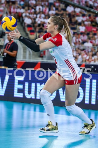 AGENCJA FOTONEWS - 01.09.2019 LODZ ( POLAND )SIATKOWKA KOBIET MISTRZOSTWA EUROPY KOBIET CEV EUROVOLLEY 2019 WOMEN EUROPEAN CHAMPIONSHIP1/8 FINALU MECZ POLSKA - HISZPANIA ( Poland - Spain ) N/Z MARTYNA GRAJBER SYLWETKA FOT ARTUR MARCINKOWSKI / FOTONEWS