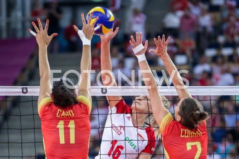 AGENCJA FOTONEWS - 01.09.2019 LODZ ( POLAND )SIATKOWKA KOBIET MISTRZOSTWA EUROPY KOBIET CEV EUROVOLLEY 2019 WOMEN EUROPEAN CHAMPIONSHIP1/8 FINALU MECZ POLSKA - HISZPANIA ( Poland - Spain ) N/Z NATALIA MEDRZYK FOT ARTUR MARCINKOWSKI / FOTONEWS