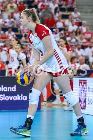 AGENCJA FOTONEWS - 01.09.2019 LODZ ( POLAND )SIATKOWKA KOBIET MISTRZOSTWA EUROPY KOBIET CEV EUROVOLLEY 2019 WOMEN EUROPEAN CHAMPIONSHIP1/8 FINALU MECZ POLSKA - HISZPANIA ( Poland - Spain ) N/Z MAGDALENA STYSIAK SYLWETKA FOT ARTUR MARCINKOWSKI / FOTONEWS