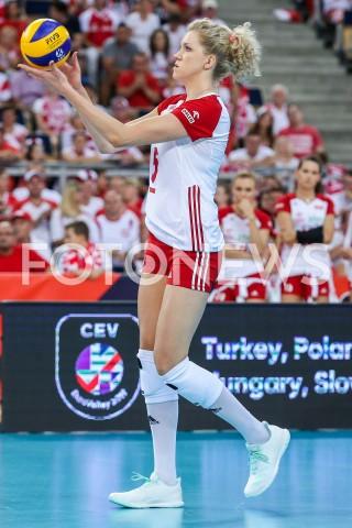 AGENCJA FOTONEWS - 01.09.2019 LODZ ( POLAND )SIATKOWKA KOBIET MISTRZOSTWA EUROPY KOBIET CEV EUROVOLLEY 2019 WOMEN EUROPEAN CHAMPIONSHIP1/8 FINALU MECZ POLSKA - HISZPANIA ( Poland - Spain ) N/Z AGNIESZKA KAKOLEWSKA SYLWETKAFOT ARTUR MARCINKOWSKI / FOTONEWS