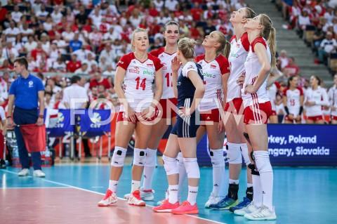 AGENCJA FOTONEWS - 01.09.2019 LODZ ( POLAND )SIATKOWKA KOBIET MISTRZOSTWA EUROPY KOBIET CEV EUROVOLLEY 2019 WOMEN EUROPEAN CHAMPIONSHIP1/8 FINALU MECZ POLSKA - HISZPANIA ( Poland - Spain ) N/Z JOANNA WOLOSZ MALWINA SMARZEK GODEK NATALIA MEDRZYK MAGDALENA STYSIAK KLAUDIA ALAGIERSKA MARIA STENZELFOT ARTUR MARCINKOWSKI / FOTONEWS