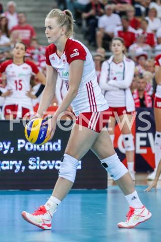 AGENCJA FOTONEWS - 01.09.2019 LODZ ( POLAND )SIATKOWKA KOBIET MISTRZOSTWA EUROPY KOBIET CEV EUROVOLLEY 2019 WOMEN EUROPEAN CHAMPIONSHIP1/8 FINALU MECZ POLSKA - HISZPANIA ( Poland - Spain ) N/Z JOANNA WOLOSZ SYLWETKAFOT ARTUR MARCINKOWSKI / FOTONEWS