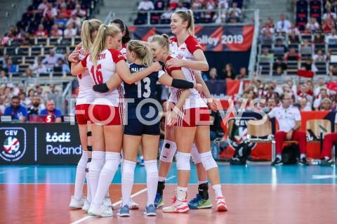 AGENCJA FOTONEWS - 01.09.2019 LODZ ( POLAND )SIATKOWKA KOBIET MISTRZOSTWA EUROPY KOBIET CEV EUROVOLLEY 2019 WOMEN EUROPEAN CHAMPIONSHIP1/8 FINALU MECZ POLSKA - HISZPANIA ( Poland - Spain ) N/Z MAGDALENA STYSIAK JOANNA WOLOSZ NATALIA MEDRZYK RADOSC EMOCJEFOT ARTUR MARCINKOWSKI / FOTONEWS