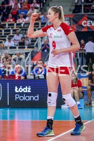 AGENCJA FOTONEWS - 01.09.2019 LODZ ( POLAND )SIATKOWKA KOBIET MISTRZOSTWA EUROPY KOBIET CEV EUROVOLLEY 2019 WOMEN EUROPEAN CHAMPIONSHIP1/8 FINALU MECZ POLSKA - HISZPANIA ( Poland - Spain ) N/Z MAGDALENA STYSIAK SYLWETKA RADOSC EMOCJEFOT ARTUR MARCINKOWSKI / FOTONEWS