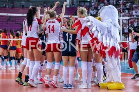 AGENCJA FOTONEWS - 01.09.2019 LODZ ( POLAND )SIATKOWKA KOBIET MISTRZOSTWA EUROPY KOBIET CEV EUROVOLLEY 2019 WOMEN EUROPEAN CHAMPIONSHIP1/8 FINALU MECZ POLSKA - HISZPANIA ( Poland - Spain ) N/Z SIATKARKI ZAWODNICZKI REPREZENTACJI POLSKI RADOSC WYGRANA EMOCJEFOT ARTUR MARCINKOWSKI / FOTONEWS