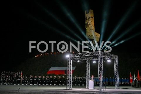 AGENCJA FOTONEWS - 01.09.2019 GDANSKOBCHODY 80. ROCZNICY WYBUCHU II WOJNY SWIATOWEJ NA WESTERPLATTE(Commemorative ceremony at Westerplatte ? 80th anniversary of the outbreak of the Second World War)N/Z ALEKSANDRA DULKIEWICZ NA TLE POMNIKAFOT MATEUSZ SLODKOWSKI / FOTONEWS