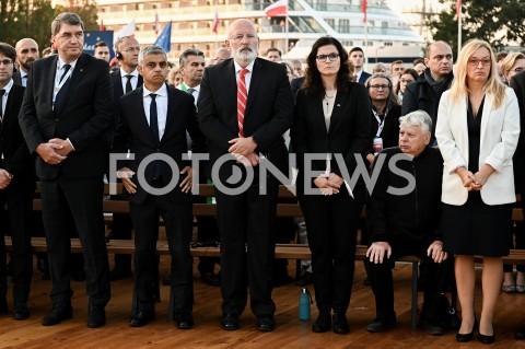 AGENCJA FOTONEWS - 01.09.2019 GDANSKOBCHODY 80. ROCZNICY WYBUCHU II WOJNY SWIATOWEJ NA WESTERPLATTE(Commemorative ceremony at Westerplatte ? 80th anniversary of the outbreak of the Second World War)N/Z SADIQ KHAN FRANS TIMMERMANS ALEKSANDRA DULKIEWICZ BOGDAN BORUSEWICZFOT MATEUSZ SLODKOWSKI / FOTONEWS