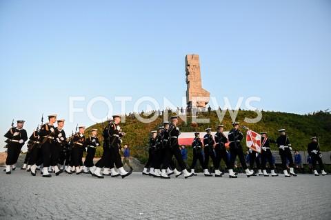 AGENCJA FOTONEWS - 01.09.2019 GDANSKOBCHODY 80. ROCZNICY WYBUCHU II WOJNY SWIATOWEJ NA WESTERPLATTE(Commemorative ceremony at Westerplatte ? 80th anniversary of the outbreak of the Second World War)N/Z KOMPANIA REPREZENTACYJNA MARYNARKI WOJENNEJ RP NA TLE POMNIKA WESTERPLATTEFOT MATEUSZ SLODKOWSKI / FOTONEWS