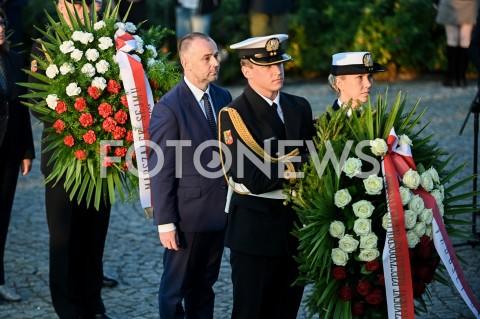 AGENCJA FOTONEWS - 01.09.2019 GDANSKOBCHODY 80. ROCZNICY WYBUCHU II WOJNY SWIATOWEJ NA WESTERPLATTE(Commemorative ceremony at Westerplatte ? 80th anniversary of the outbreak of the Second World War)N/Z PAWEL MUCHA SKLADA KWIATY W IMIENIU PREZYDENTA ANDRZEJ DUDAFOT MATEUSZ SLODKOWSKI / FOTONEWS